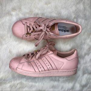 Adidas Custom Superstar Sneakers in Baby Pink